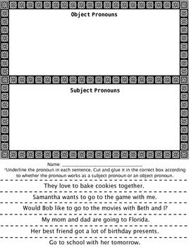 Pronoun Activity Pack. Four Great Pronoun Games and Activities!