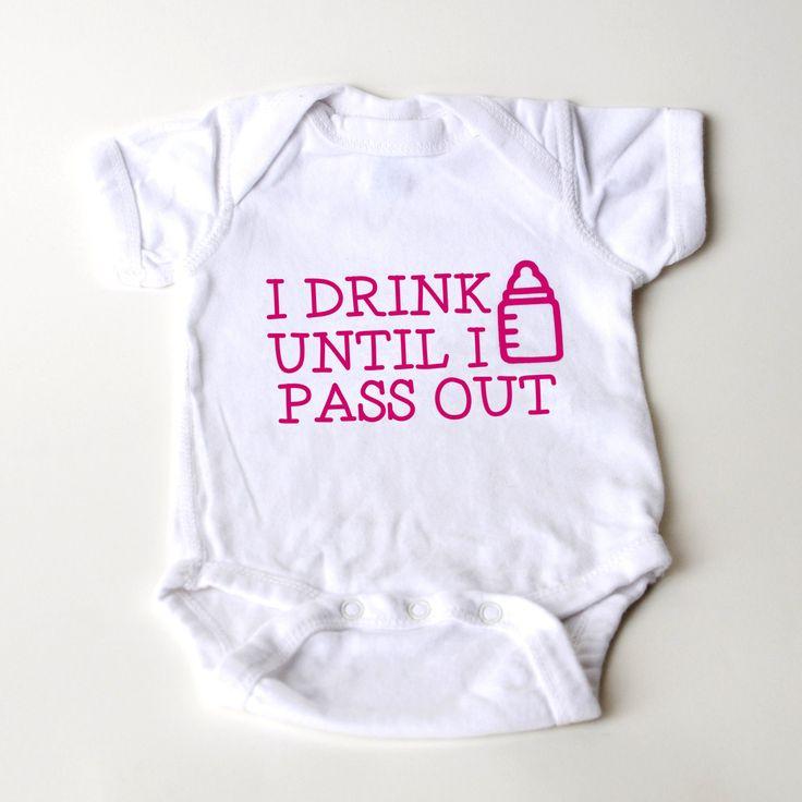 New to JoyfulMoose on Etsy: Funny Baby Girl 1 piece bodysuit - Newborn Baby Girl Gift - New Baby Girl Pink Shirt (15.00 USD)