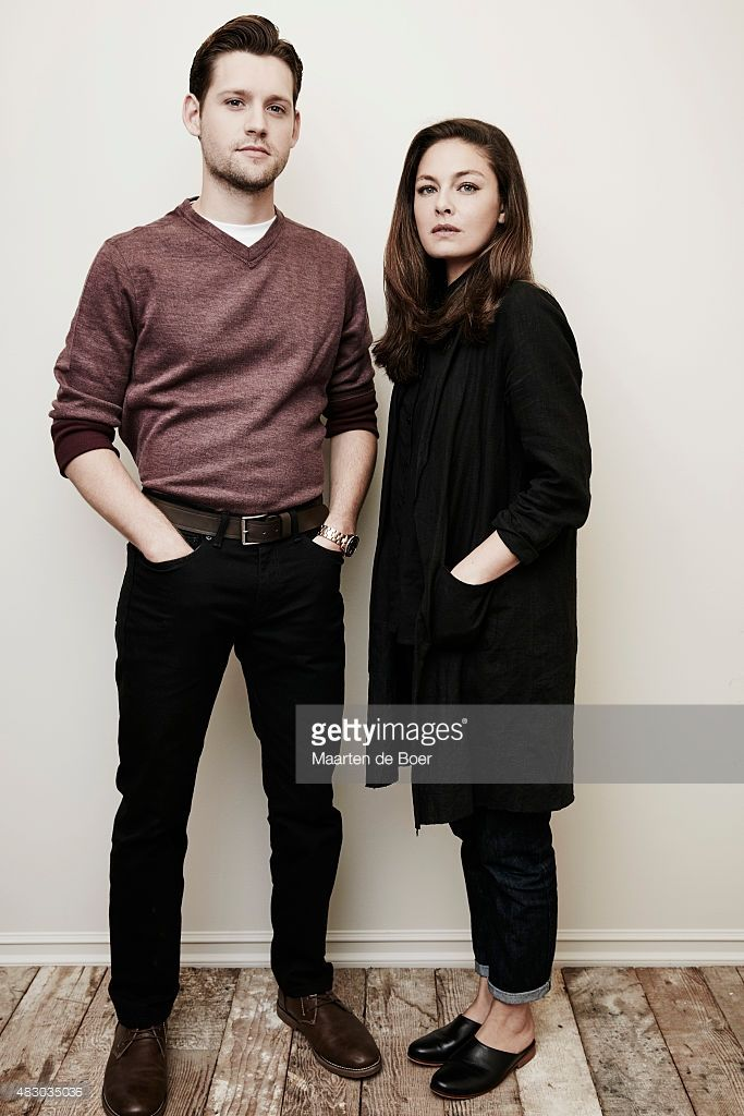 Actors Luke Kleintank (L) and Alexa Davalos from Amazon Studios' 'The Man In The High Castle' pose in the Getty Images Portrait Studio powered by Samsung Galaxy at the 2015 Summer TCA's at The Beverly Hilton Hotel on August 3, 2015 in Beverly Hills, California.