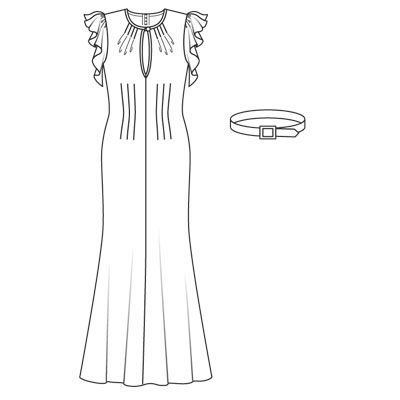 Платье уоллис симпсон - выкройка № 116 из журнала 3/2008 Burda – выкройки на Burdastyle.ru