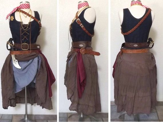 Medium Pirate Halloween Costume Adult by PassionFlowerVintage