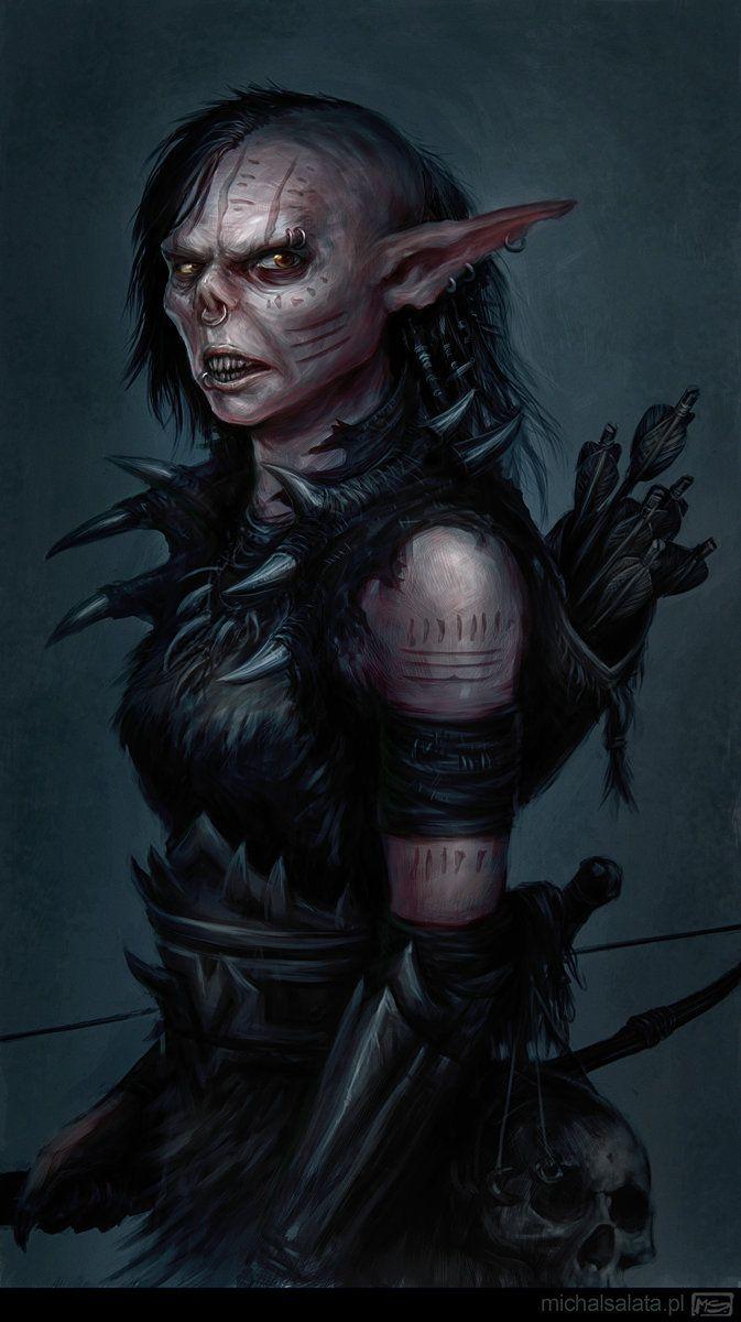 Orc female, Michal Salata on ArtStation at https://www.artstation.com/artwork/orc-female