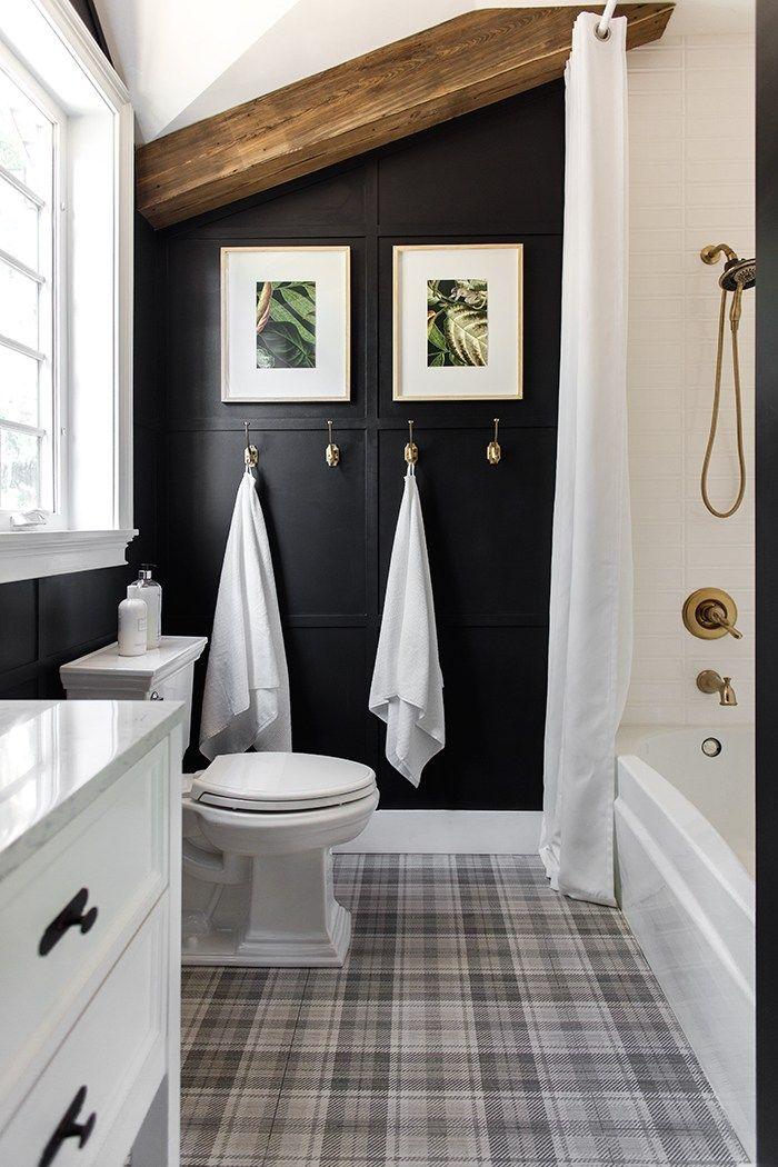 Bold Black Accent Wall Ideas Bathroom Interior Bathroom Interior Design Rustic Bathroom Designs