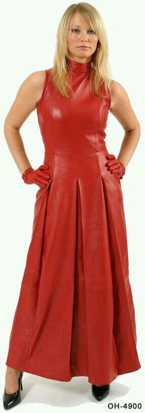 Luv this red leather dress
