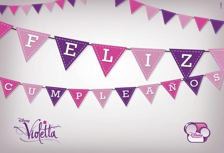 Banderín Violetta Feliz Cumpleaños