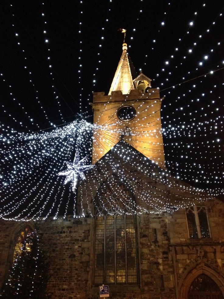 Sparkling beautifully! Guernsey's town church High street!