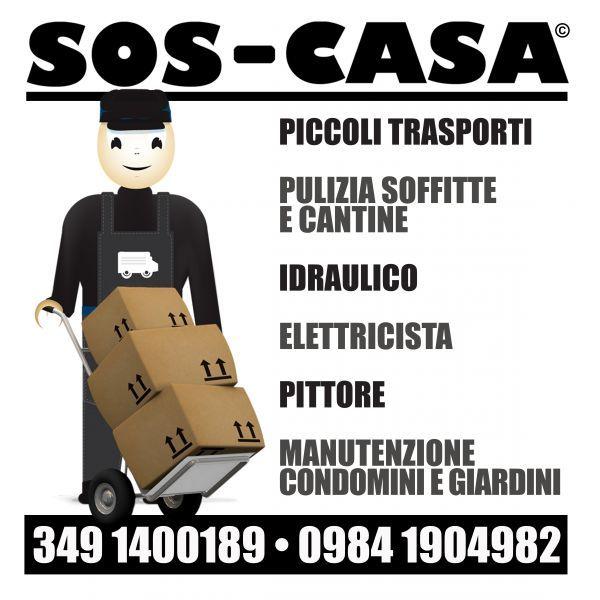 Devi sgombrare un appartamento, una cantina, devi fare un trasporto SOS CASA  SOS CASA - servizio tuttofare Devi sgombrare un locale, una soffitta, un magazzino o una cantina Hai l&rsquoesigenza di fare un piccolo trasporto Devi tinteggiare