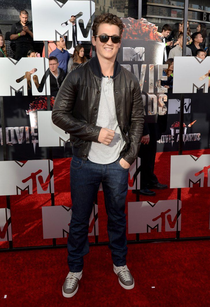 Pin for Later: Hollywood Hits the MTV Movie Awards Red Carpet Miles Teller