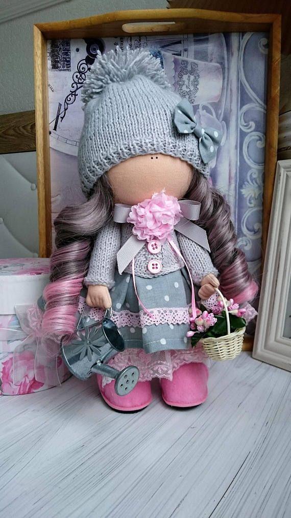 Handemade muñeca arte muñeca textil muñeca muñeca tela muñeca