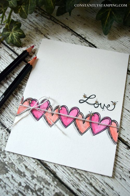 Valentine by Connie Collins with Love Sparkles stamps from Stampin' Up!