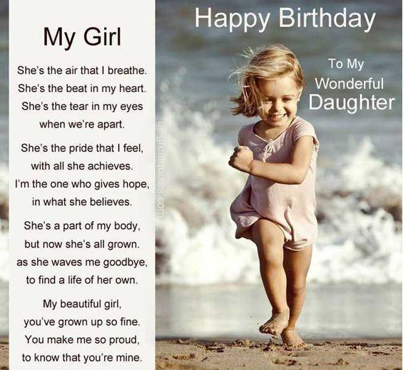HAPPY BIRTHDAY, TO MY WONDERFUL DAUGHTER
