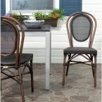 Safavieh Ebsen Black Textile Aluminum Patio Side Chair (2-Pack)
