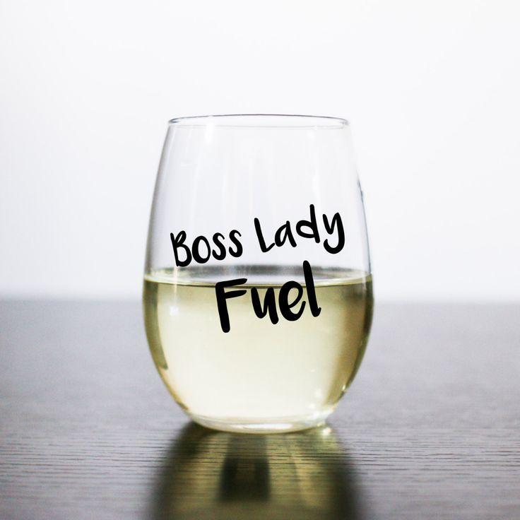Boss Lady Fuel stemless wine glass - Boss Babe Fuel stemless wine glass…