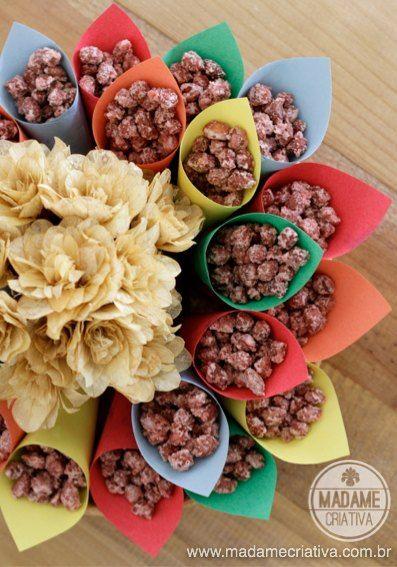 Amendoin doce para festa junina - Receita fácil de amendoim Praliné para sua quermesse - Easy peanut recipe - Madame Criativa