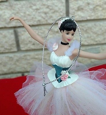 Barbie Lighter than Air Porcelain Ornament 2001 Degas Ballerina Caucasian Avon