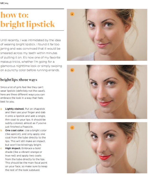 how to::bright lipstick