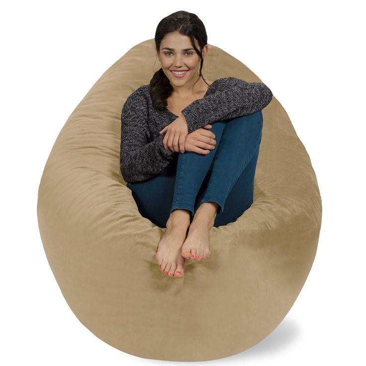 Chill Bag - Bean Bags Huge Bean Bag Pillow, Tan Pebble