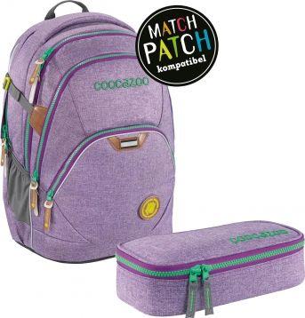 Match Patch Schulrucksack für Mädchen mit wechselbaren Zippern