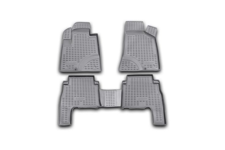 Novline Hyundai Santa Fe Floor Mats - Molded floor mats from Novline trap mud, snow, water and dirt in your vehicle. Novline floor mats are a custom designed floor liner designed to cover maximum floor space, including the driver's left foot rest to provide you with excellent floor protection. There is no trimming required for fit, as each one is custom molded. Made of flexible polyurethane, for a tight shaped fit and a UV stabilizer to protect against sun damage. The Novline digital…