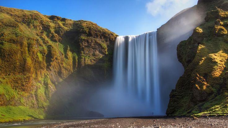 Thunder Mist waterfall, Iceland