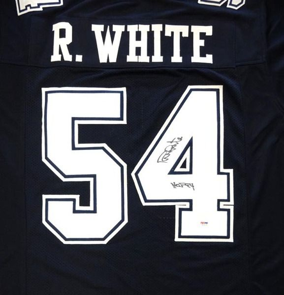 "Randy White Autographed Dallas Cowboys Blue Jersey """"HOF 94"""" PSA /DNA"
