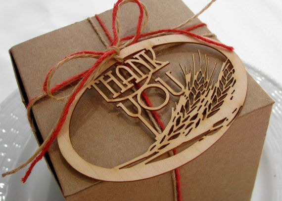 Rustic Wedding Wheat Favor Tags Laser cut from by MadelineDrive, $32.00