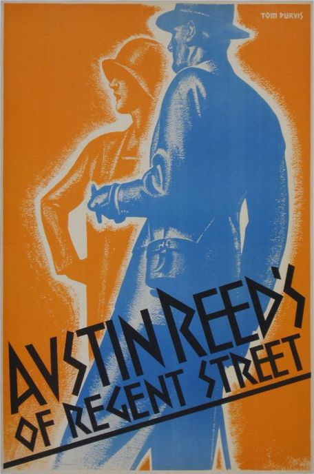 By Tom Purvis (1888-1959), ca 1930, Austin Reed's of Regent Street. (British)