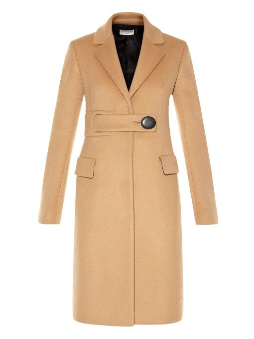 I really want a beautiful camel coat, this one will do - Balenciaga Belted single-breasted coat