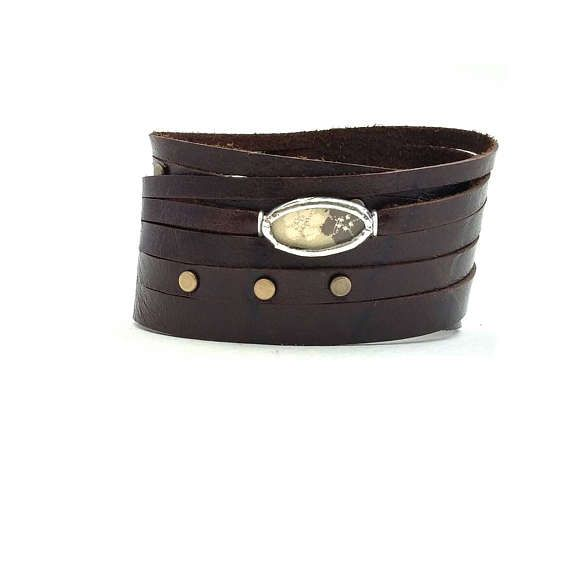 Check out this item in my Etsy shop https://www.etsy.com/ca/listing/509984590/shi-bandit-cuff-brown-leather-wrap-cuff