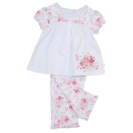 Pijama de manga corta de Mini Vanilla, rosa y blanco