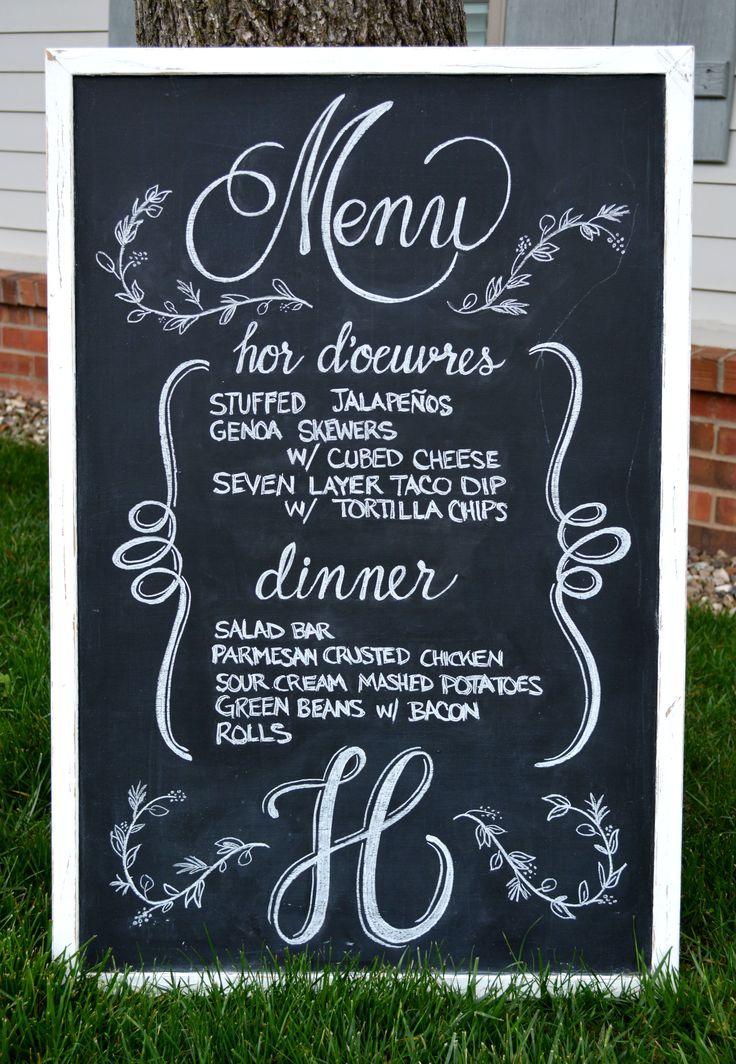 best 25  wedding menu chalkboard ideas on pinterest