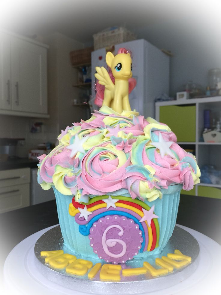My Little Pony # Giant Cupcake from  https://m.facebook.com/TLcupcakeco/