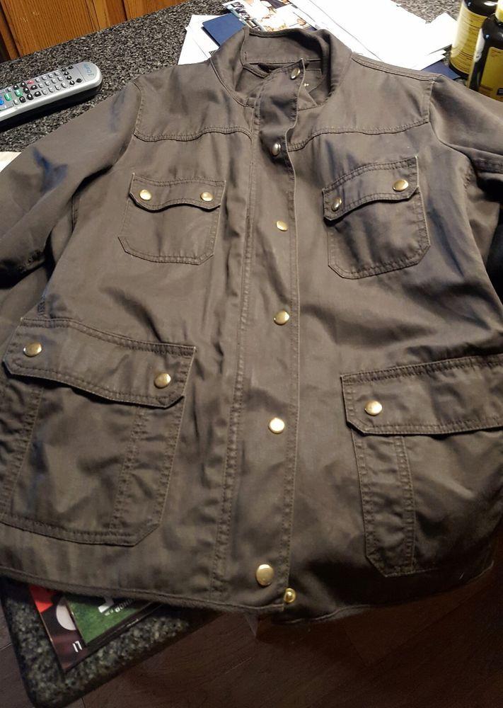 J.Crew Relaxed Boyfriend Field Jacket, Women's Size XL army green/olive green.  #JCrew #FieldJacket #Casual