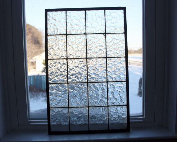 Industrial Glass Window Panel Privacy By