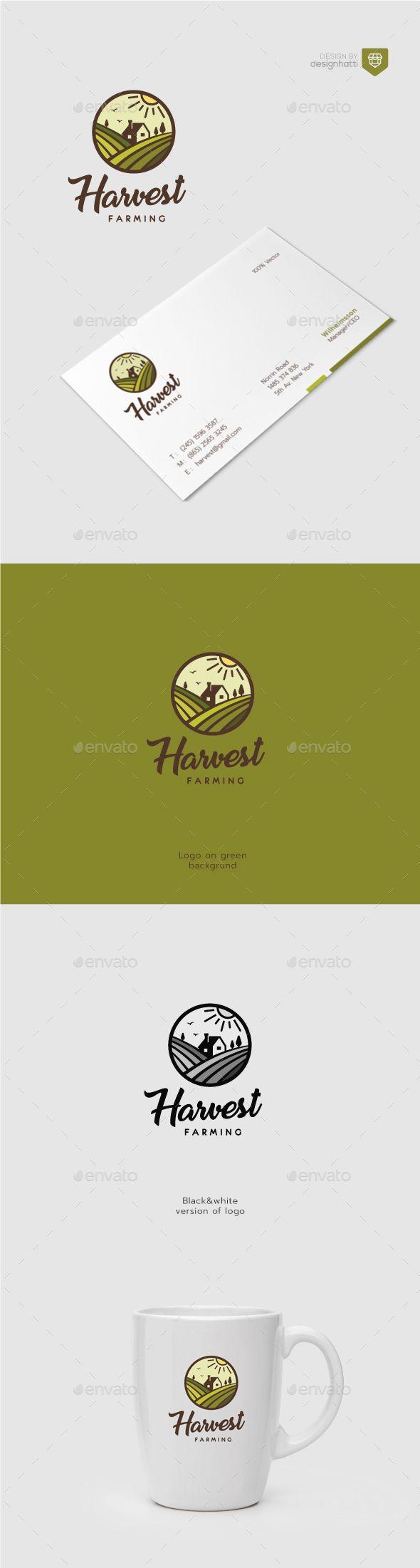 Harvest Farming Logo - Nature Logo Templates