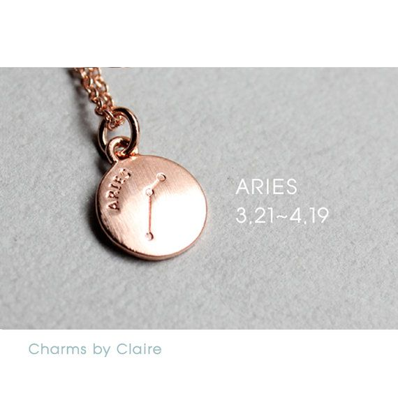 Hey, I found this really awesome Etsy listing at https://www.etsy.com/listing/450496002/aries-zodiac-disc-charms-rose-gold
