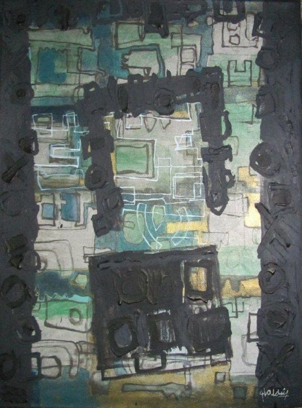 Zonas ignoradas 1 72 cm x 57 cm Acrílico-Lienzo 2013 800€ #arte #art #artecubano #cubanart #galerías #galleries #pintura #painting #EliseoValdes
