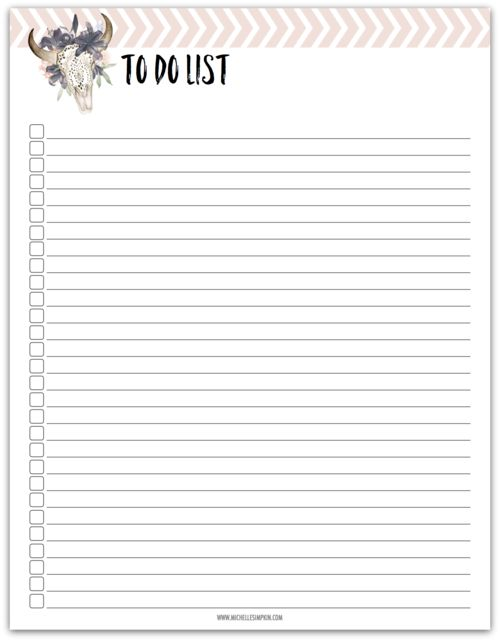 FREE PRINTABLE! Keep your To Do List on point with this pretty printable. Click here to download yours today! No email address needed. To Do List   Free Printable   Free To Do List   To Do List Printable   Get Stuff Done   Get Shit Done #todolist#freeprintable#todolistprintable#freetodolisthttps://www.michellesimpkin.com/free
