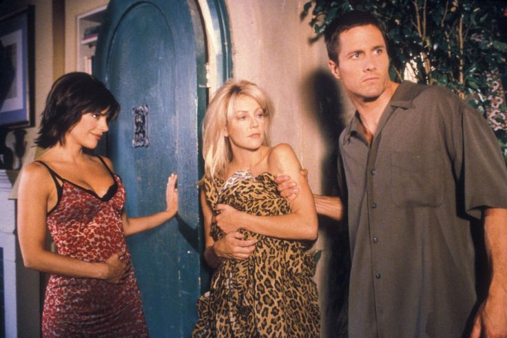 Heather Locklear, Rob Estes, and Lisa Rinna in Melrose Place (1992)