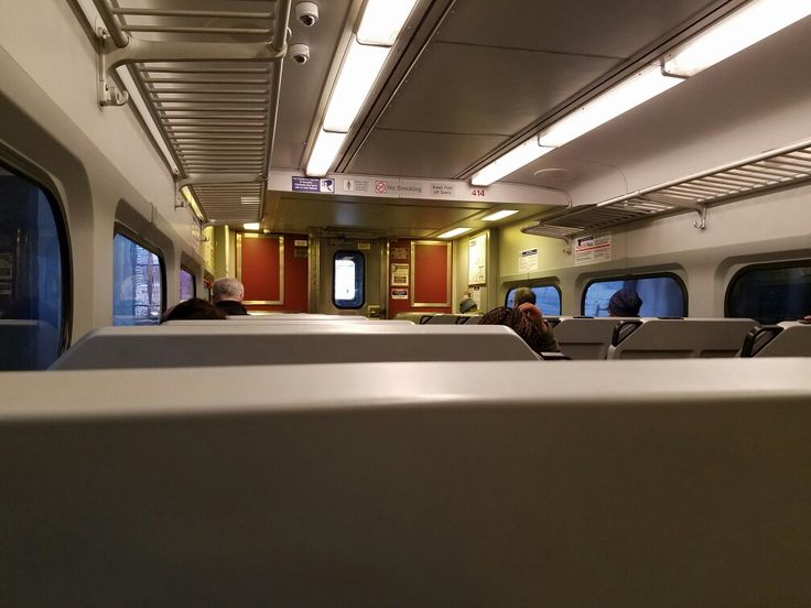 The view from aboard a SEPTA regional rail train heading toward downtown Philadelphia on the transit agency's Airport line.
