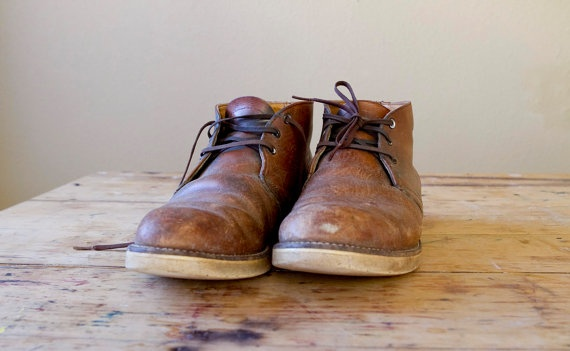 Vintage Red Wing 'Postman' chukka boots with crepe soles...good enough for the Postman, good enough for me