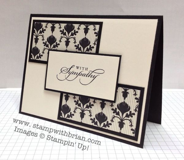 Attractive Card Making Ideas Sympathy Part - 8: Me: I Like The Design Of This Card, Would Be Easy To Make Best  Of.Greetings, Modern Medley Designer Series Paper, Stampinu0027 Up!