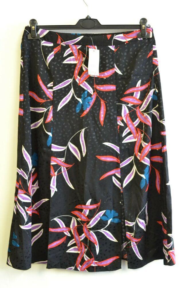f2338e0ecec25 Womens GEORGE (ASDA) Black Patterned Skirt BNWT UK size 12 DER11/2sb ...