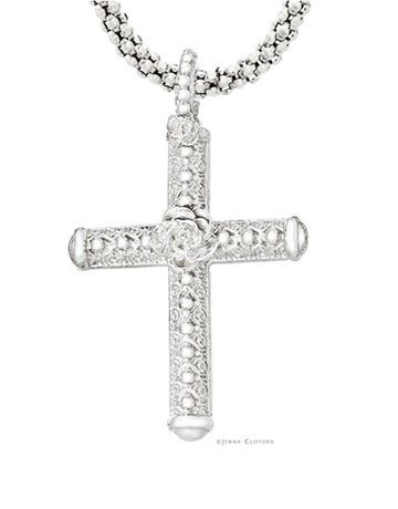 Jenna Clifford Mercina Cross with chain