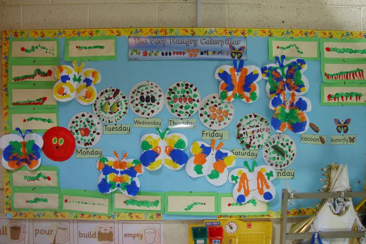 Art, Music and Drama Page: The very hungry caterpillar display in Junior Infants