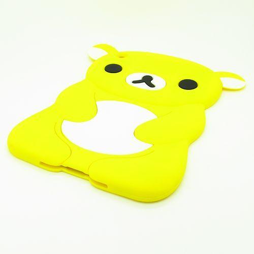 Yellow 3D Cute Bear Animal Soft Silicone Back Case Cover for Apple iPad Mini | eBay