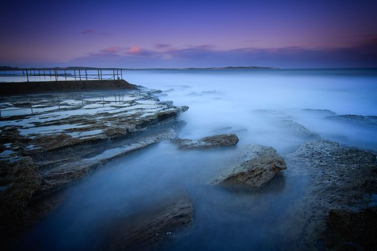 "Long exposure with Lee Filters ""Big Stopper"" of the waves on the rock platforn next to the ocean pool at Cronulla. Canon 7D Tokina 11-16mm Lee Filters Big Stoper Lee Filters 0.6ND Hard Grad"