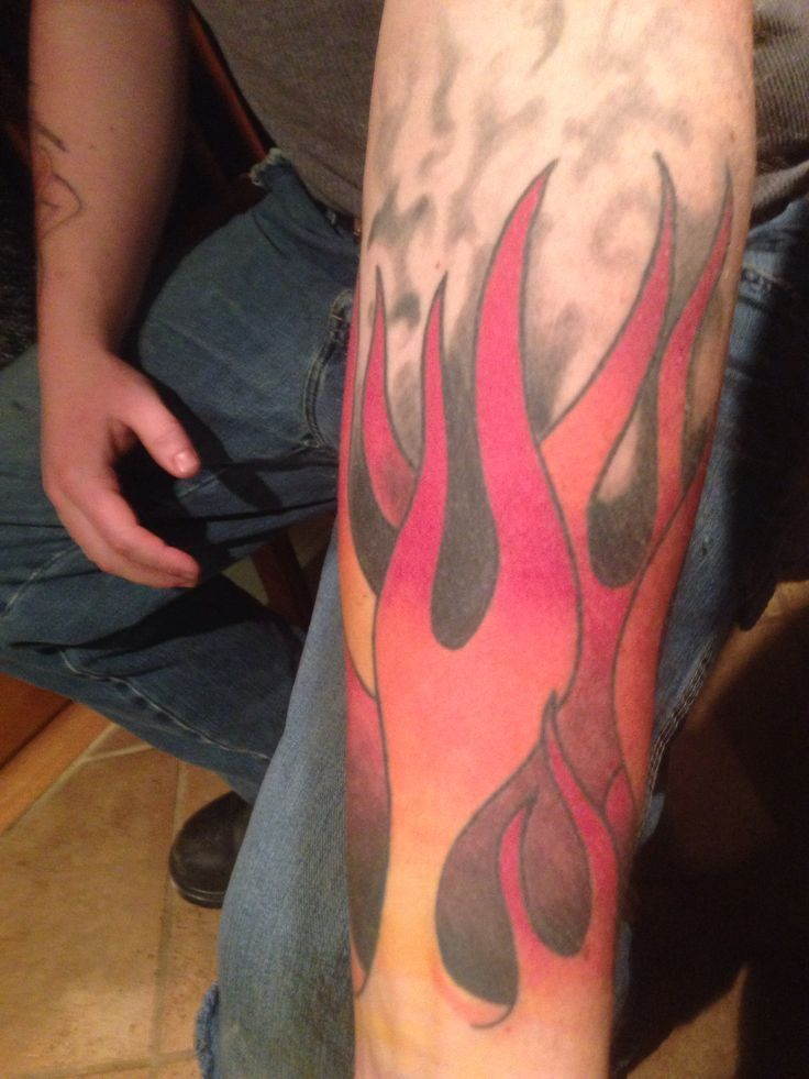 of his flames tattoo | Forearm tattoo | Pinterest | Flame Tattoos ...