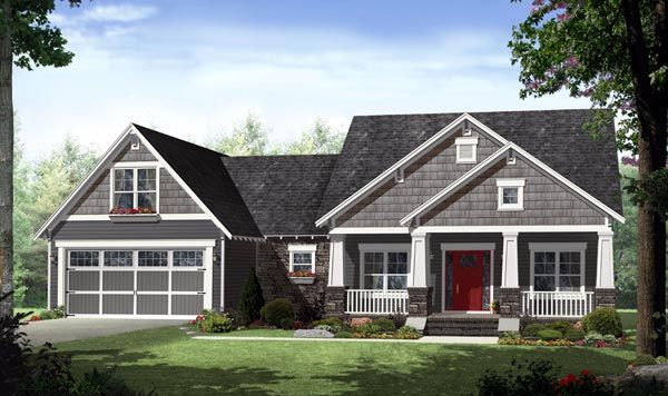 House Plan 59939 | Country Craftsman Traditional Plan with 2284 Sq. Ft., 4 Bedrooms, 3 Bathrooms, 2 Car Garage at family home plans