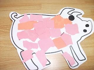 Preschool Crafts for Kids*: Easy Pig Collage Paper Craft